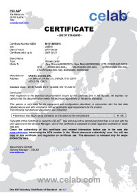 Certificazione EN 1112