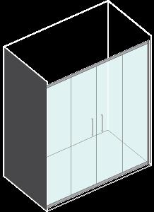 Porta 2 scorrevoli Texture