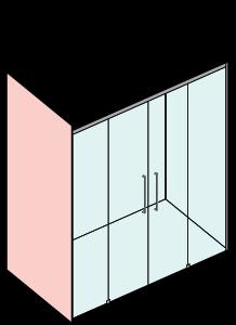 Porta 2 scorrevoli